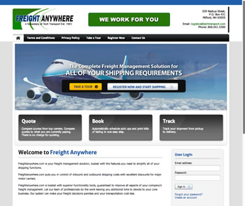 Freight Anywhere Website